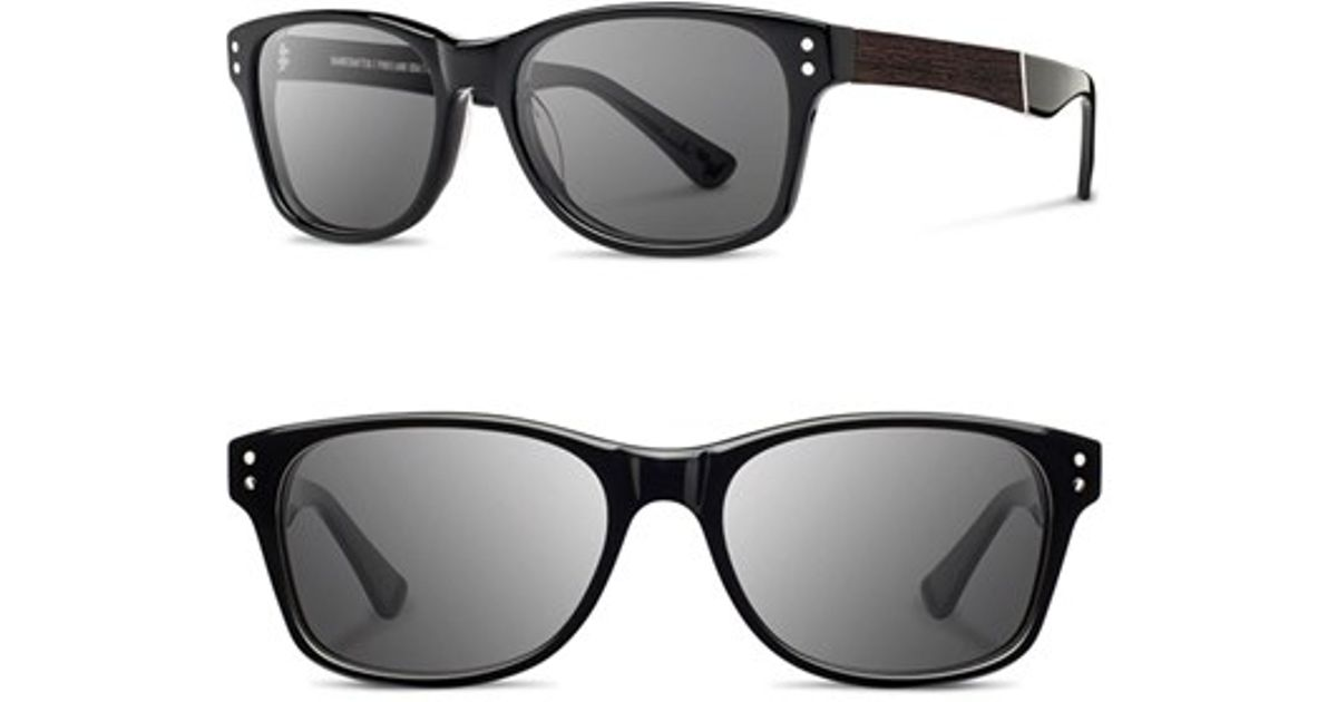 3fa27955f602dc Lyst - Shwood  cannon  54mm Polarized Sunglasses in Black for Men