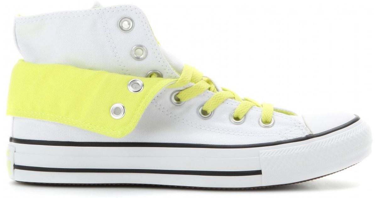 Converse White Chuck Taylor All Star Two Fold High top Sneakers