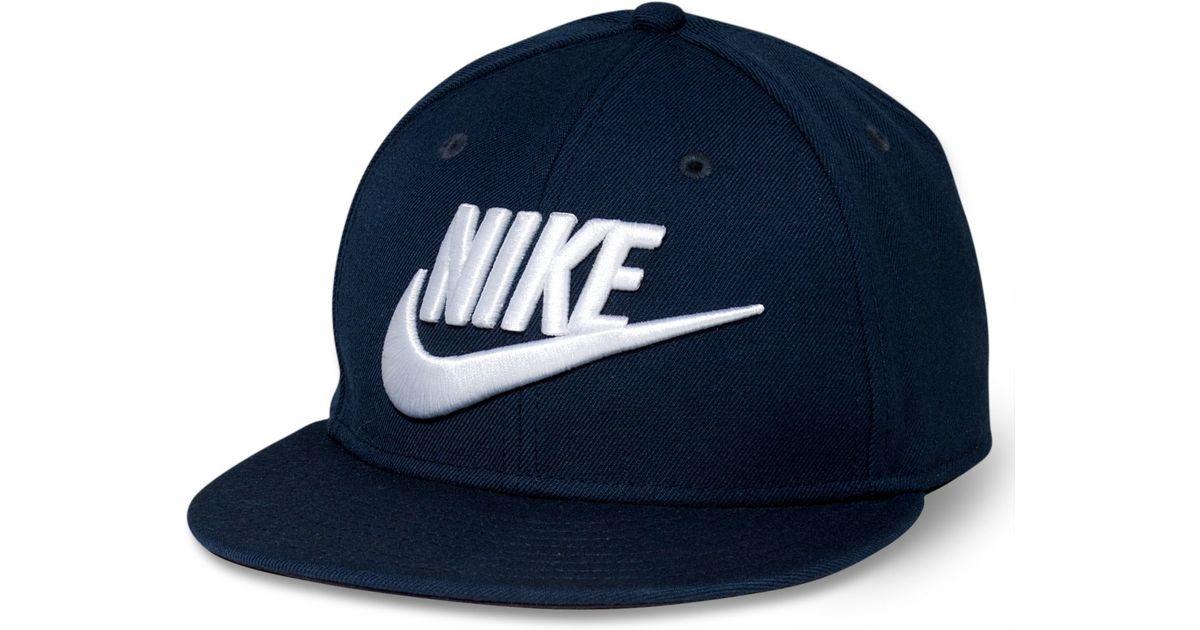 011b66b981f ... Snapback Hat  Lyst - Nike Futura True Snapback in Blue for Men ...
