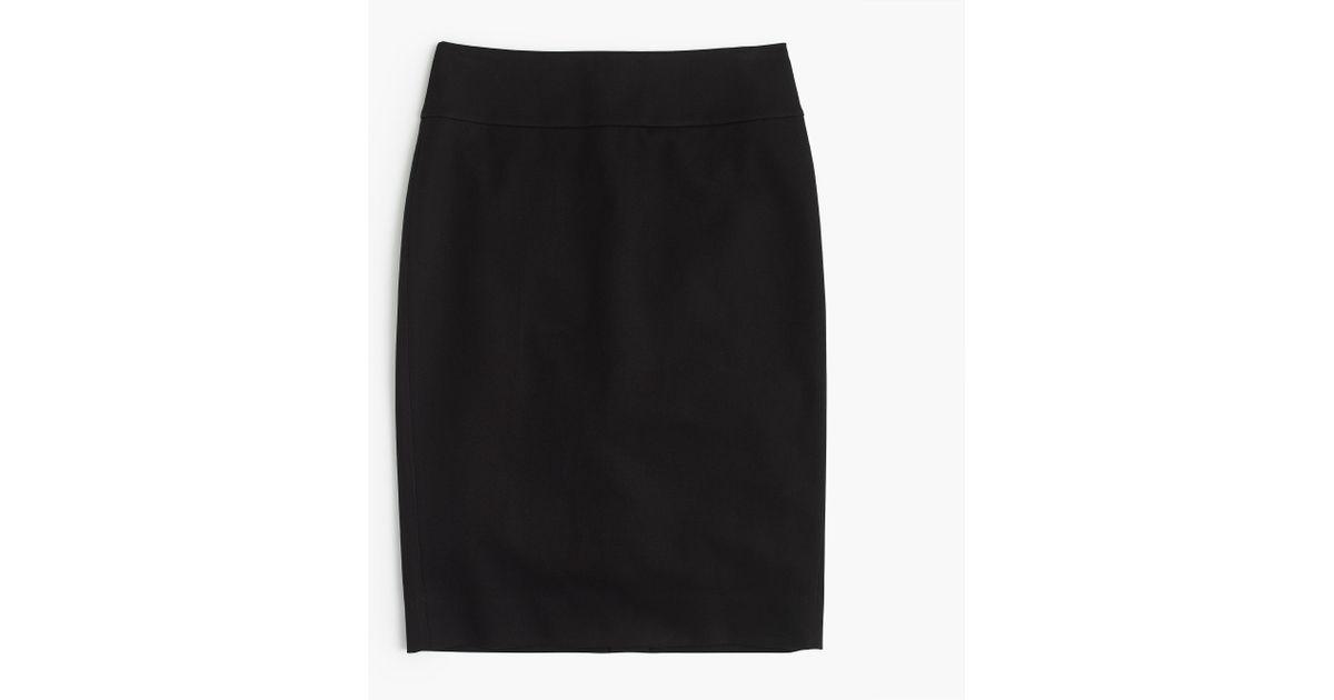 j crew no 2 pencil skirt in bi stretch cotton in black lyst