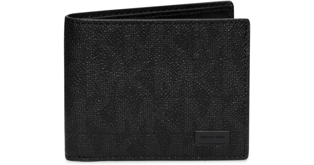 a5834223ded0 Michael Kors Jet Set Logo Id Billfold Wallet in Black for Men - Lyst
