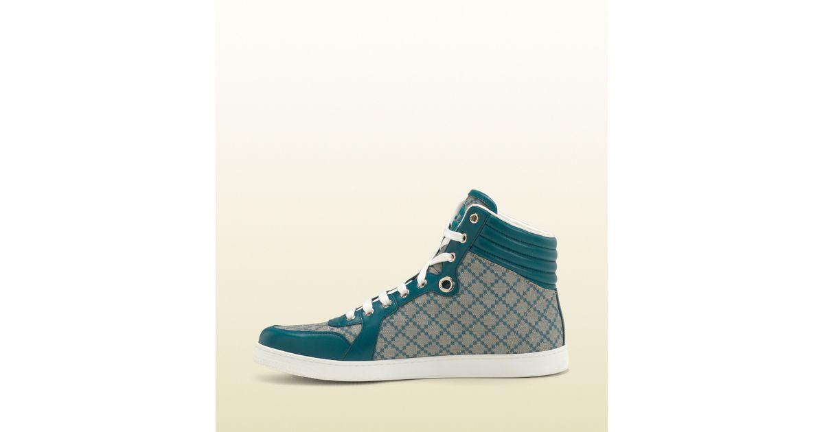68375de87335 Lyst - Gucci Online Exclusive Diamante Supreme Canvas High-top Sneaker in  Blue for Men