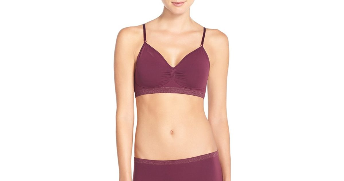 67ee9628754 Lyst - Nordstrom Seamless Day Bra in Red