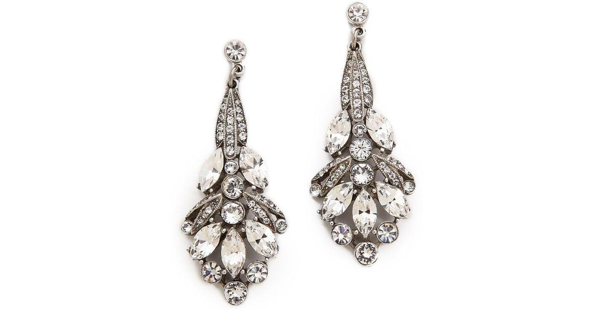 Ben-Amun Double Teardrop Crystal Dangle Clip Earrings qKcHWyW