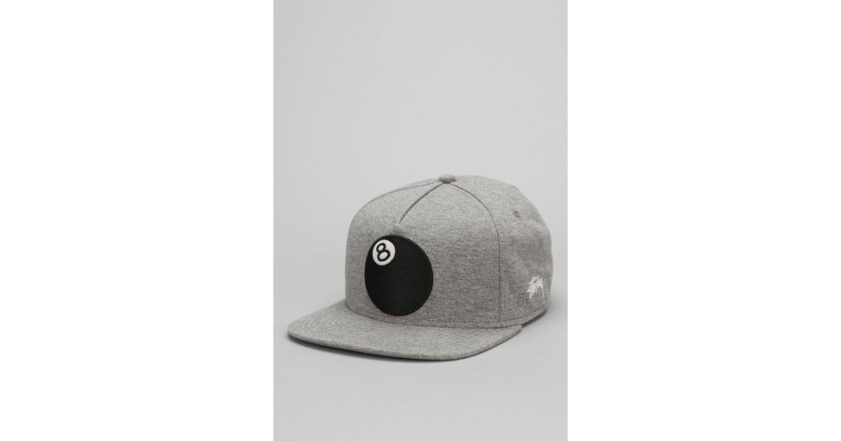 a8aa28e47c7 Lyst - Urban Outfitters Stussy 8ball Jersey Snapback Hat in Gray for Men