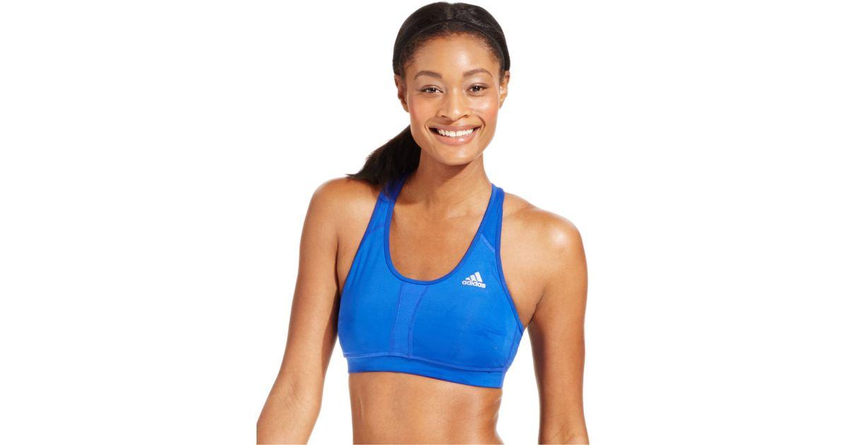 2bbc28a0 Adidas Blue Techfit Compression Climacool® Medium-impact Sports Bra