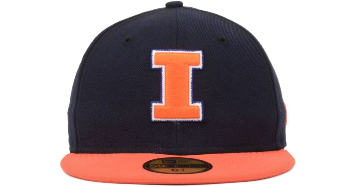 free shipping 49126 ad2ce ... cuffed knit hat 8d1b9 8d278  release date lyst ktz kids illinois  fighting illini 2 tone 59fifty cap in blue for men
