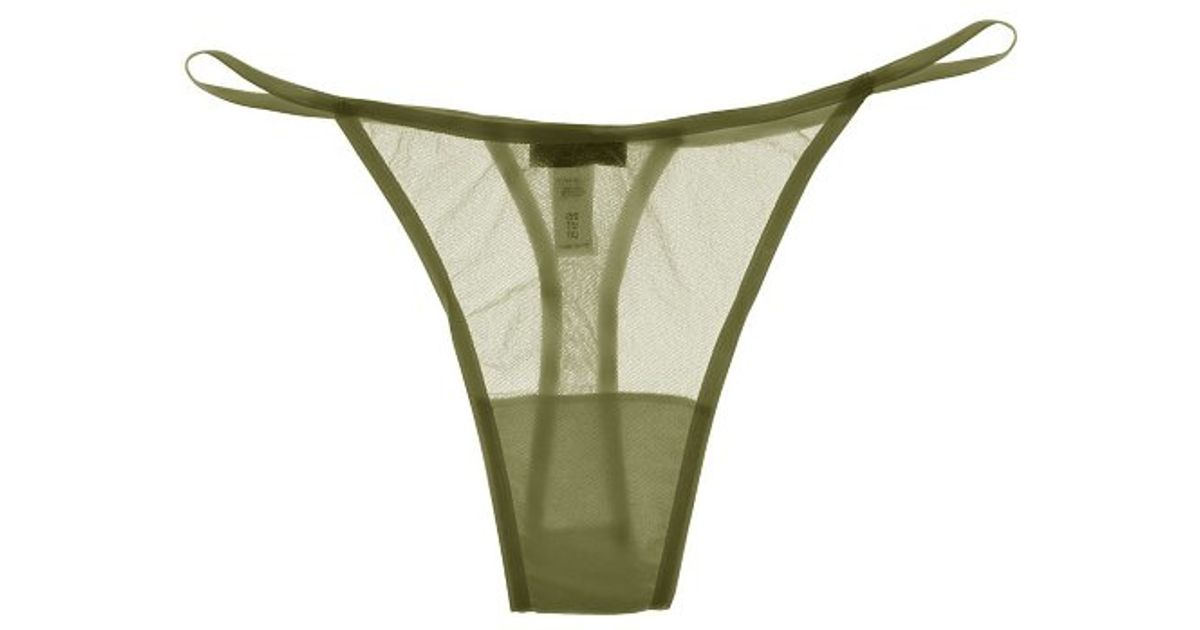 f78a17876bd24 Lyst - Cosabella Soire New Lowrideritalian Thong in Green