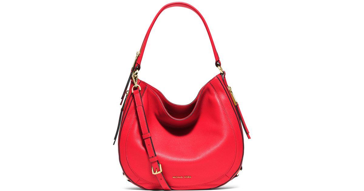 Michael kors Julia Medium Leather Shoulder Bag in Pink