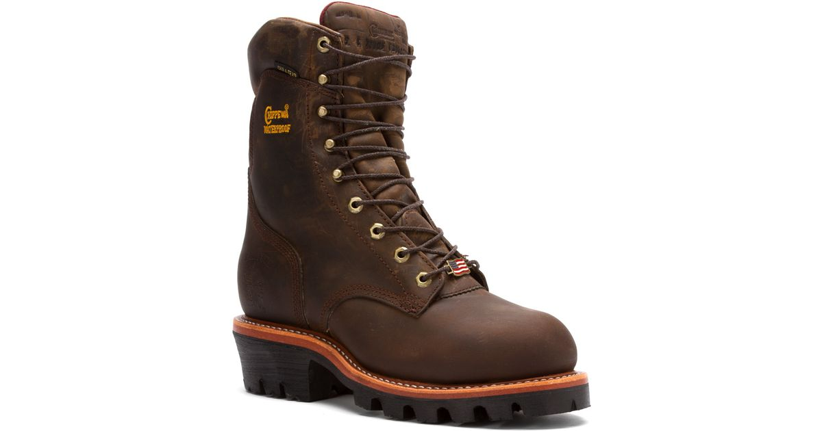 977797afd8e Chippewa Brown 25405 9-inch Insulated Logger St Eh Wp Wide for men