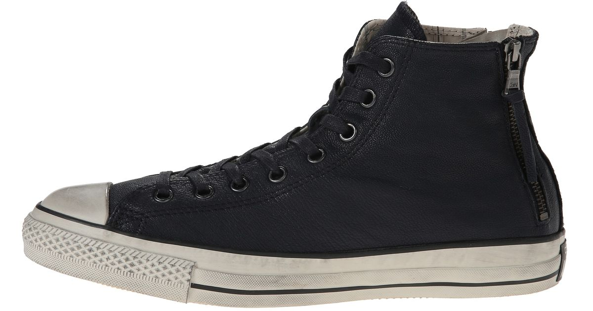 69b0fcaa7eec Lyst - Converse Chuck Taylor All Star Double Heel Zip Quito Leather in Blue