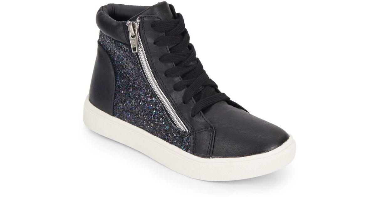 steve madden high top black sneakers