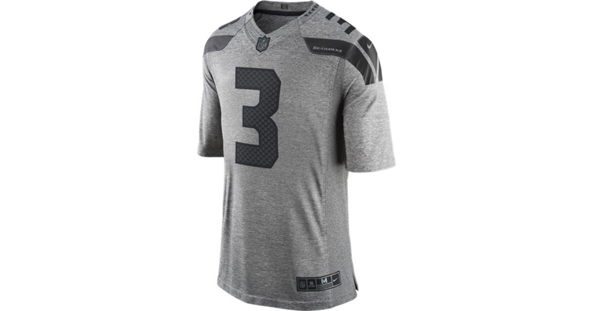 Lyst - Nike Men s Russell Wilson Seattle Seahawks Gridiron Jersey in Gray  for Men 92e5e503d