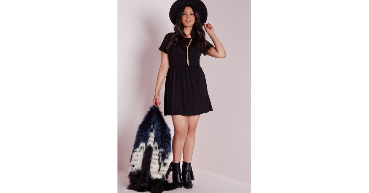 697928c2383 Lyst - Missguided Plus Size Jersey T-shirt Skater Dress Black in Black