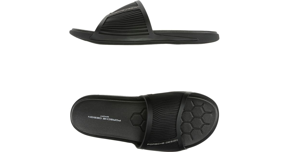 sports shoes 0609f 6fb3f Porsche Design Black Sandals for men