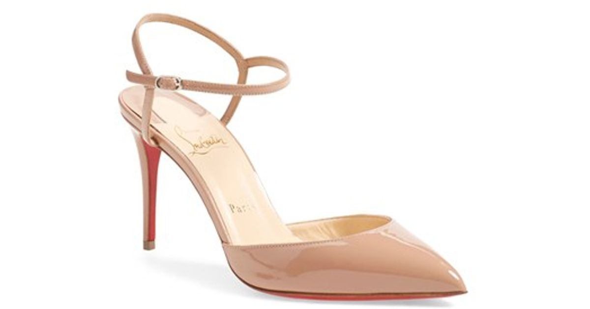 6110735c4d6 Christian louboutin Rivierina Patent Leather Pumps in Beige (NUDE .