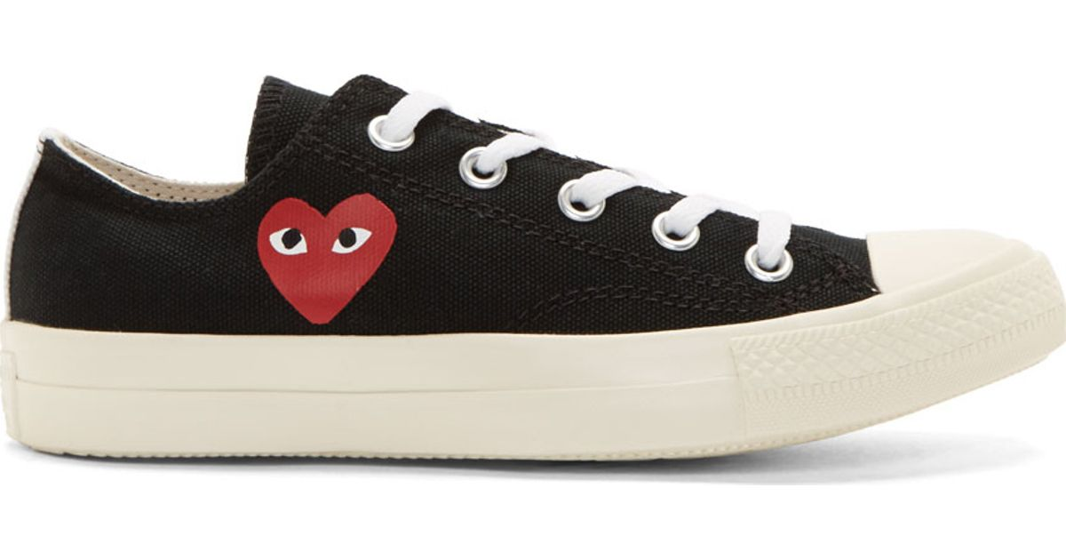 e8fa367dec31 Play Comme des Garçons Black Heart Logo Converse Edition Low top Sneakers  in Black - Lyst
