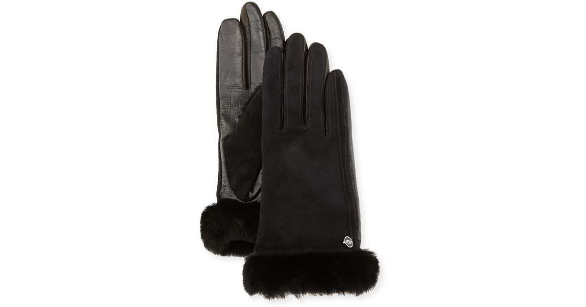 Gants noir 4116 Ugg Ugg en cuir noir c9e63df - deltaportal.info