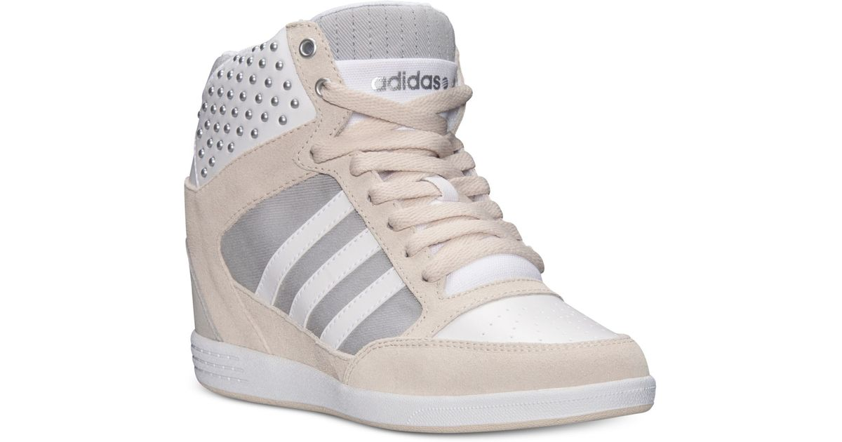 46ee72c4e5e5 Lyst - adidas Women S Weneo Super Wedge Casual Sneakers From Finish Line in  Natural