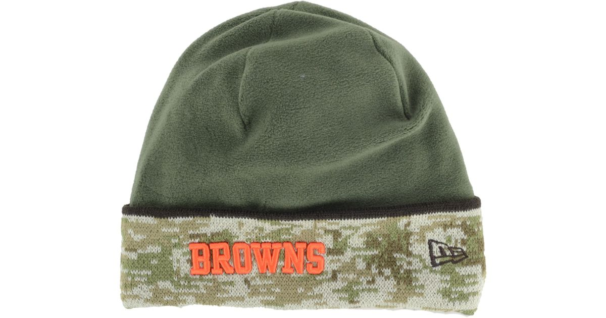 cb81bdfcc ... 50% off lyst ktz cleveland browns salute to service knit hat in green  for men