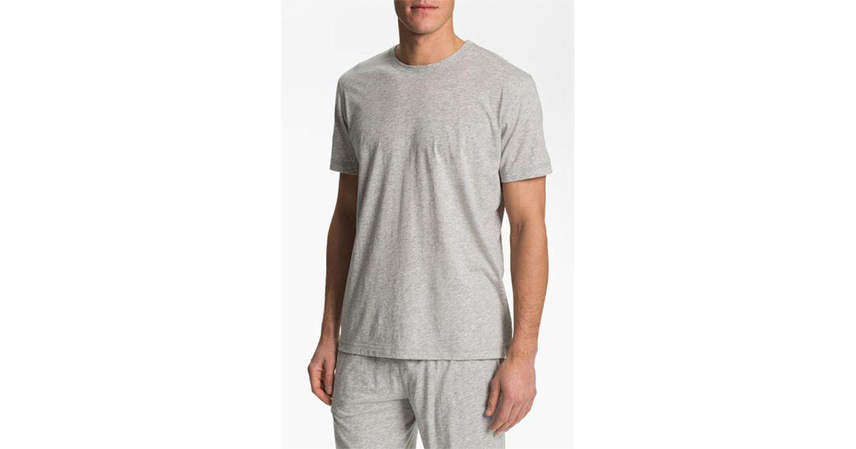 Daniel Buchler Peruvian Pima Cotton T Shirt In Gray For