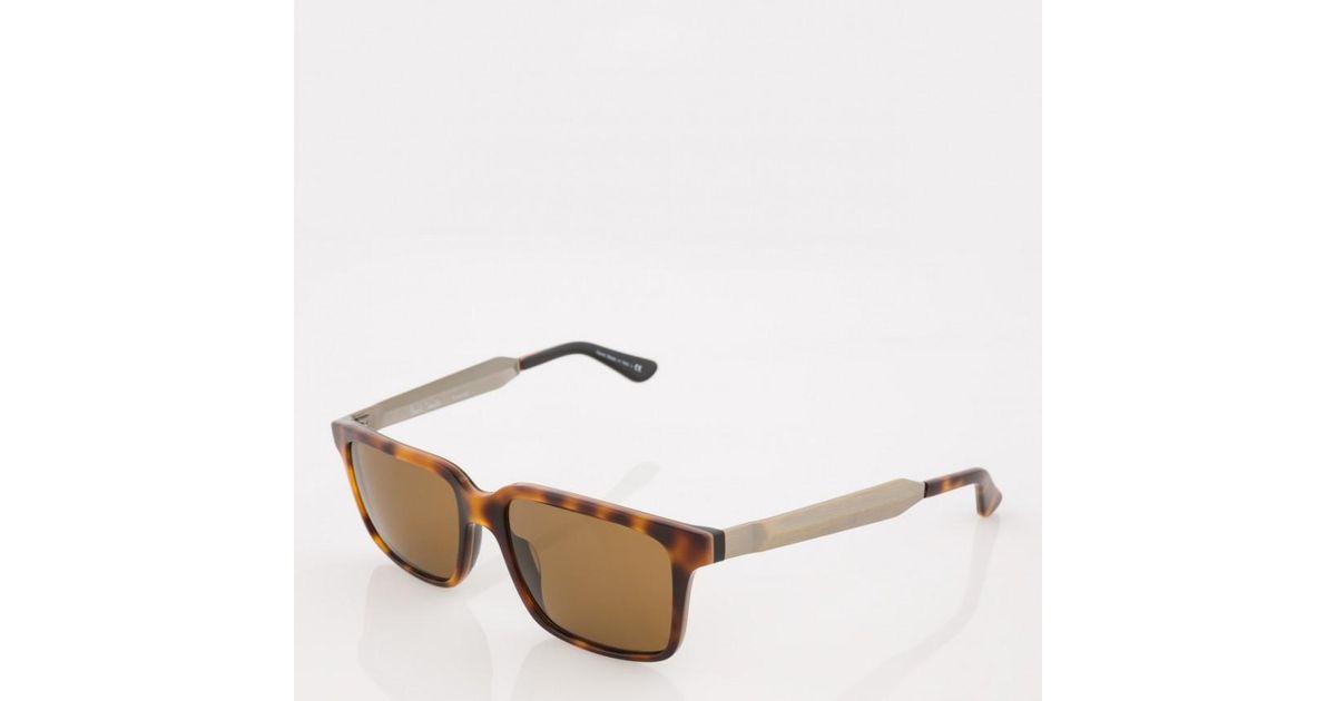 140b46733bb56 Lyst - Paul Smith Tortoiseshell Polarized  shawford  Sunglasses in Brown