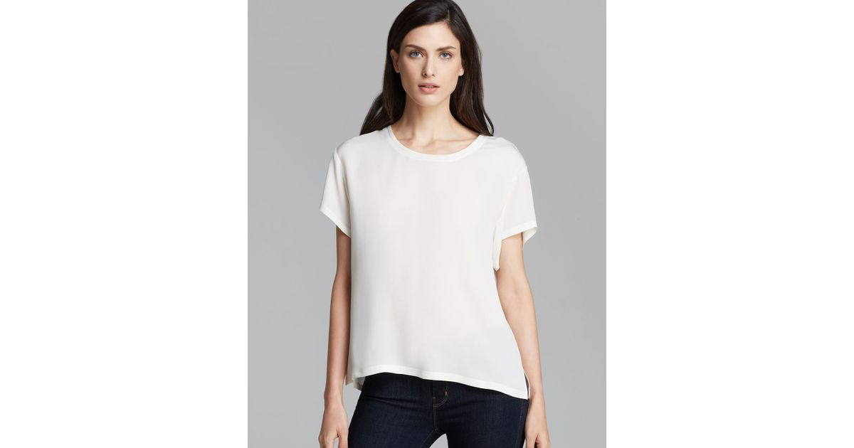 ecf6ecc6ce Lyst - Theory Shirt Lightny Double Georgette in White