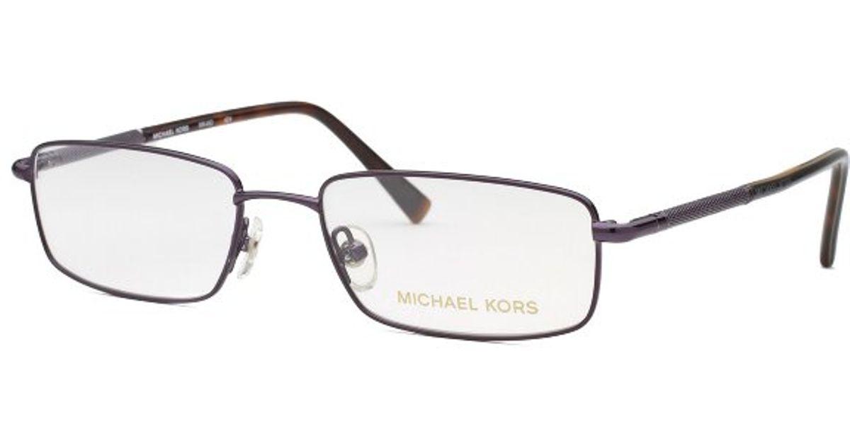 3dbf11367dd Lyst - Michael Kors Women s Rectangle Black Optical Eyeglasses in Black