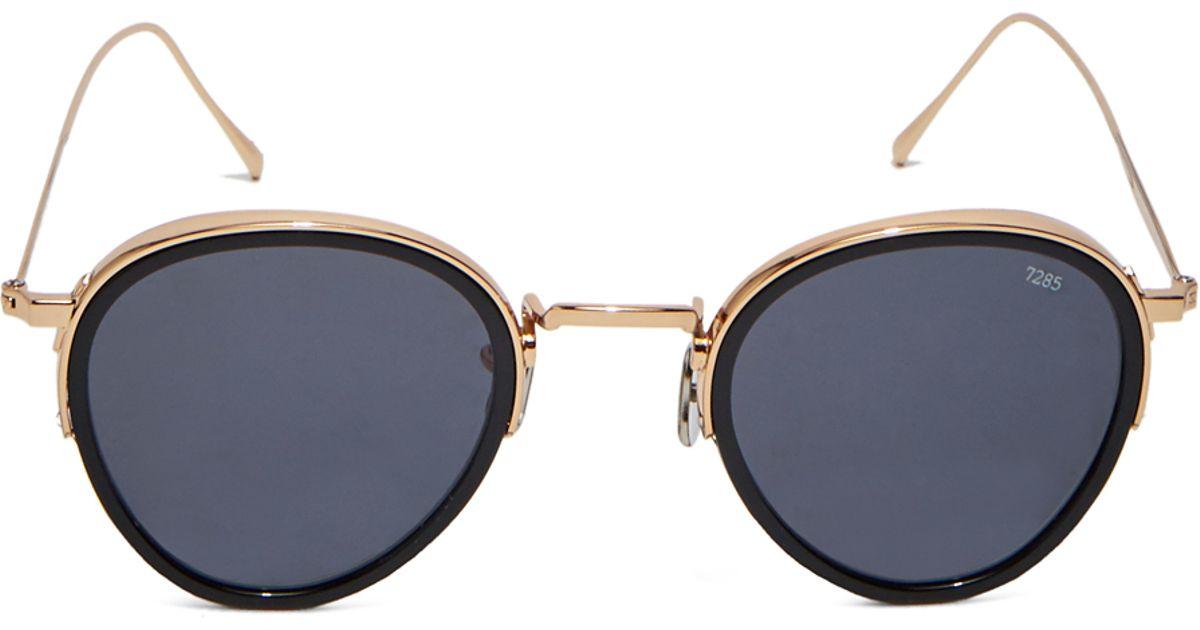 f5057d06bf5 Lyst - Eyevan 7285 Unisex Sunglasses Model 732 In 1002 Black And Gold in  Metallic for Men