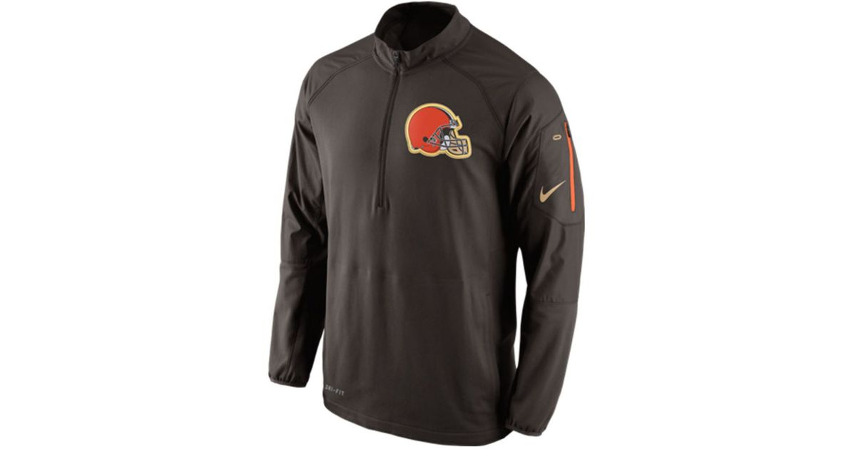 finest selection 5b6ed ea14f Nike Men's Cleveland Browns Champ Drive Hybrid Half-zip Pullover for men