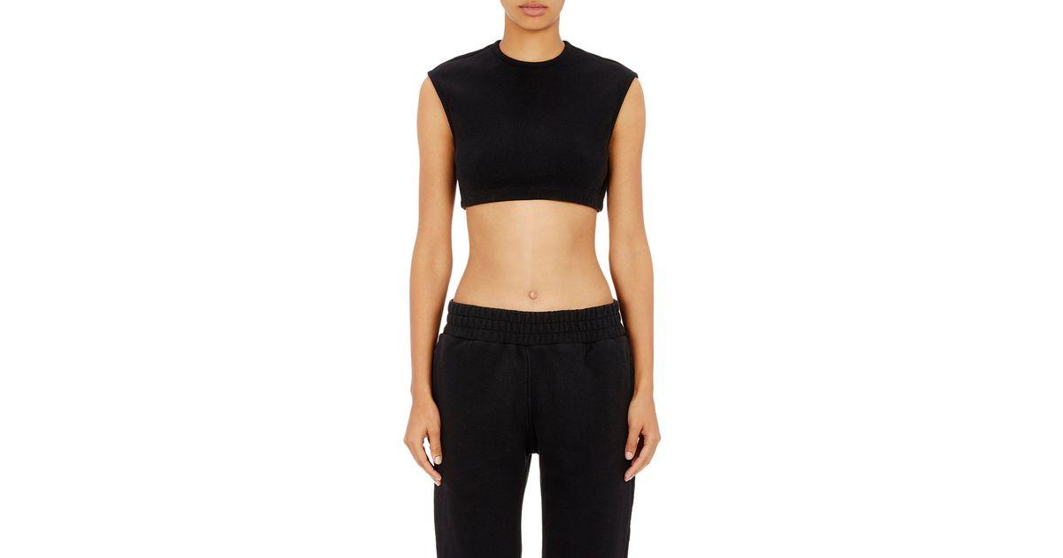 Yeezy Black Crop Rib knit Top