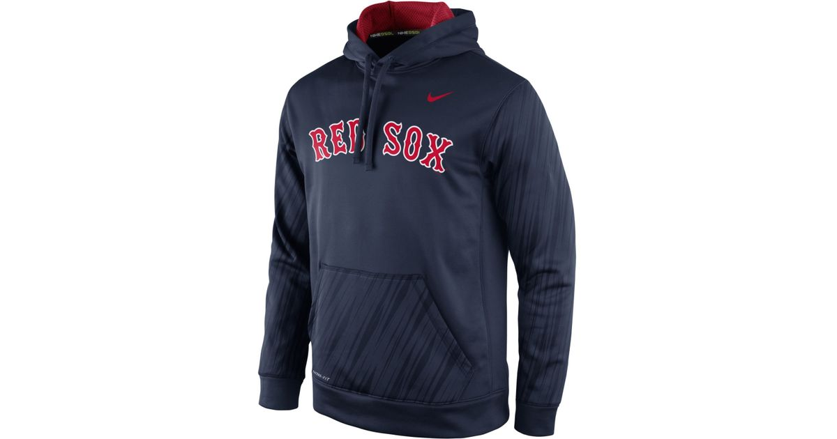 new concept 72bce 3cca8 Nike Blue Men's Boston Red Sox Speed Ko Hoodie for men