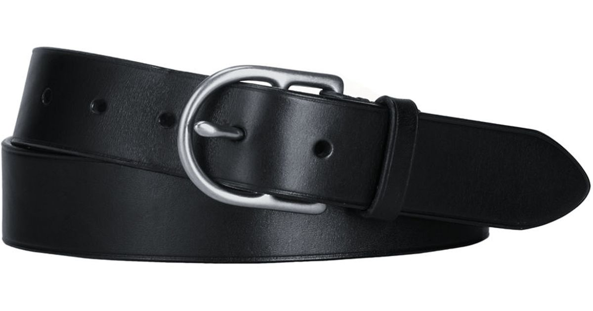 polo ralph classic leather belt in black for lyst
