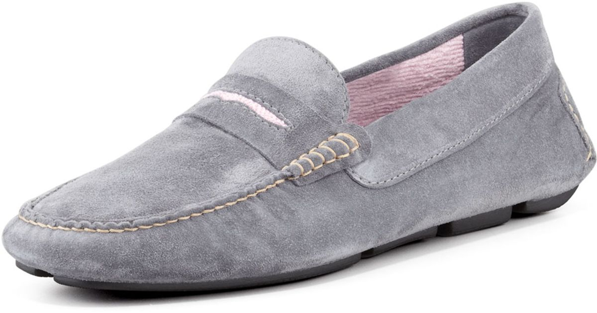 337206a62ac79 Manolo Blahnik Mens Roadster Suede Driver Loafer in Gray for Men - Lyst