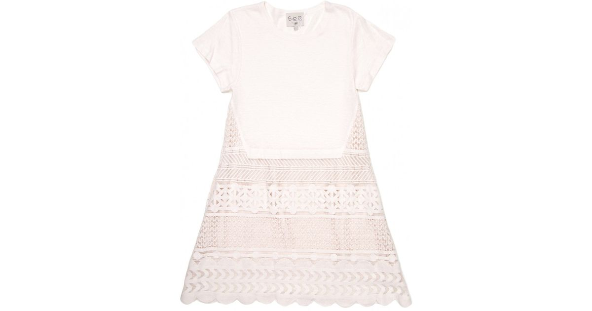 Sea lace combo dress