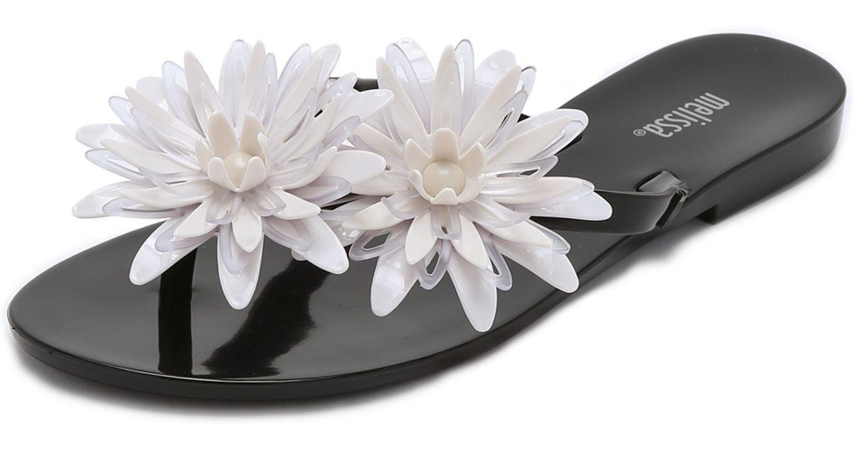 dd361466ca28 Lyst Melissa Harmonic Garden Iii Flip Flops In Black