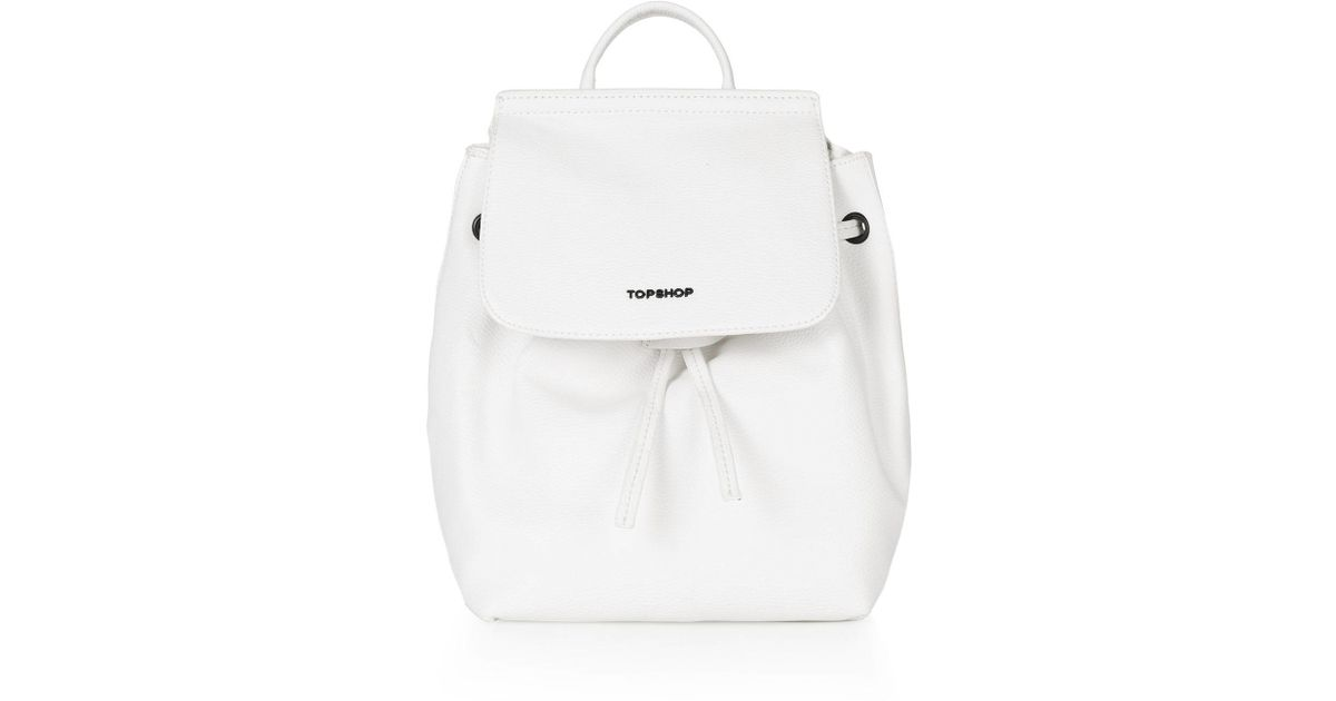 77cff56264 Lyst - TOPSHOP Mini Textured Backpack in White