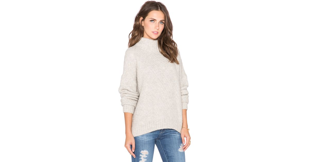 Twelfth street cynthia vincent Turtleneck Swing Sweater in White ...