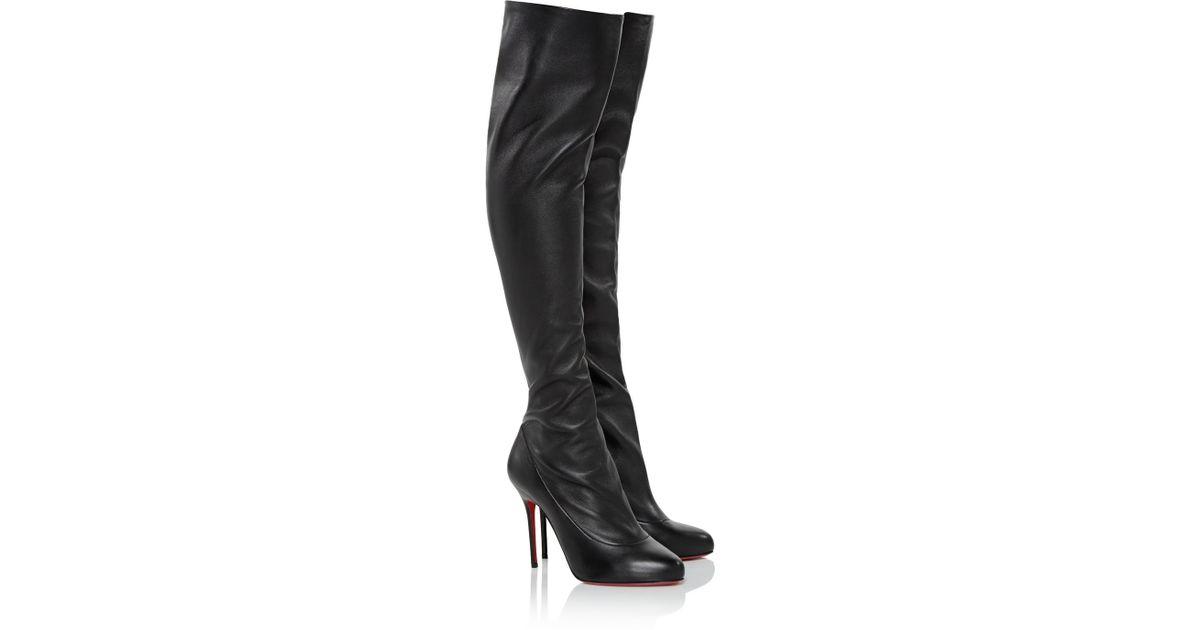christian louboutin monica thigh high boots