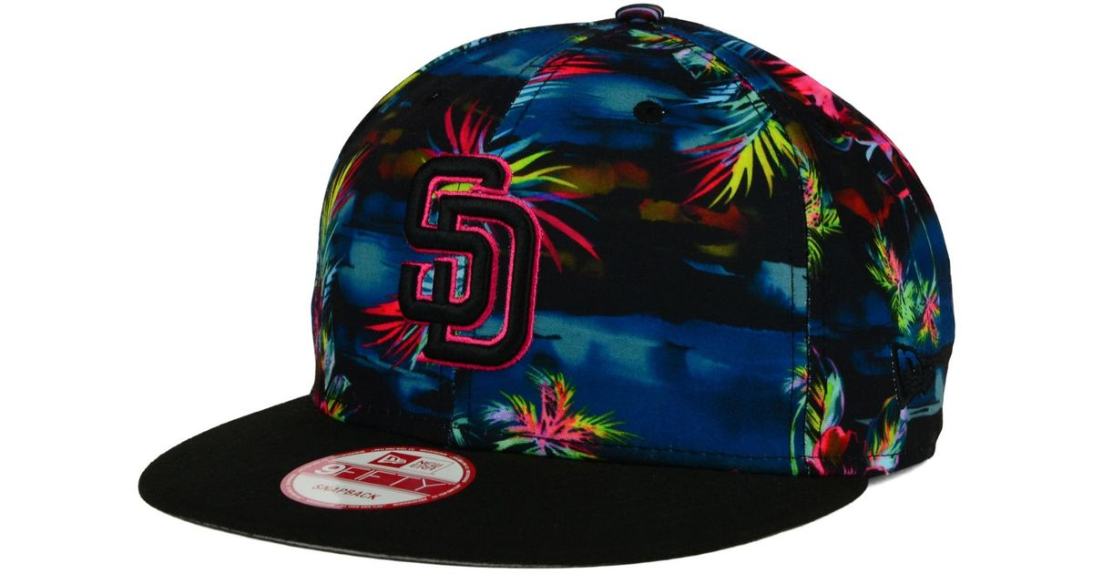 online retailer 7b678 b6c0e ... spain lyst ktz san diego padres dark tropic 9fifty snapback cap in green  for men c2162