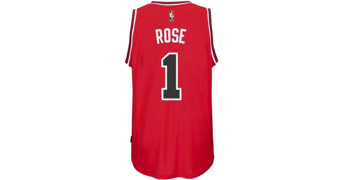 the latest a3132 04c59 Adidas Originals Red Men's Derrick Rose Chicago Bulls Hardwood Classic  Swingman Jersey for men