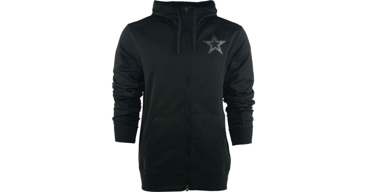new style 60fd3 b2b74 Nike Black Men'S Dallas Cowboys Platinum Ko Chain Full-Zip Hoodie for men