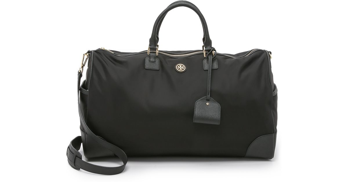 80756321b13 Lyst - Tory Burch Nylon Dena Duffel Bag - Black black in Black