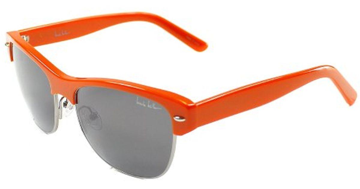 89b9cc6a62 Lyst - Nicole Miller Rector C02 Rectangle Plastic Metal Sunglasses in Orange