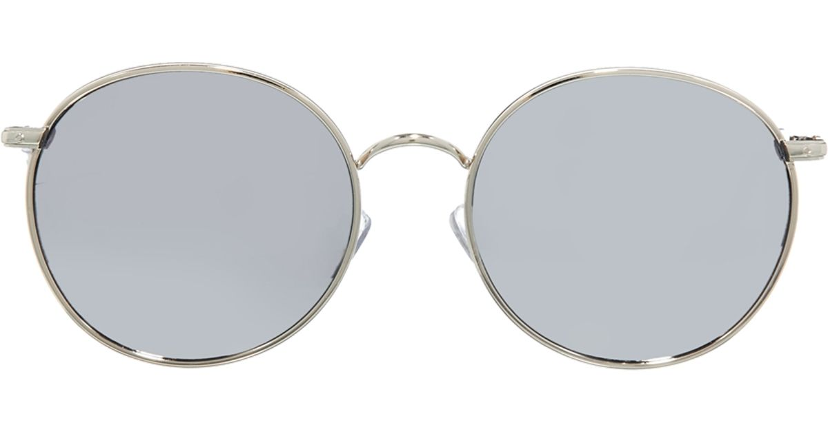 efb7eb8c59 Lyst - ASOS Metal Round Sunglasses with Mirror Lens in Gray for Men
