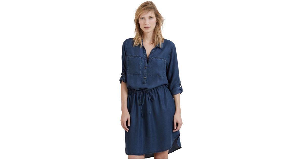 Violeta By Mango Plus Size Denim Shirtdress In Blue Lyst