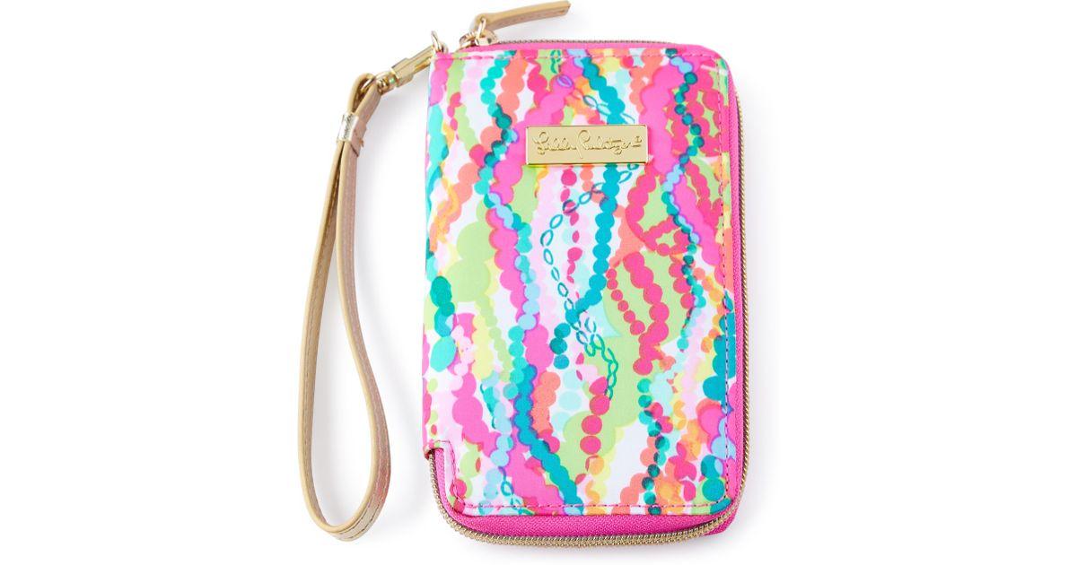Superbe Lyst   Lilly Pulitzer Pink Multi Print Tiki Palm Iphone 6 Wristlet
