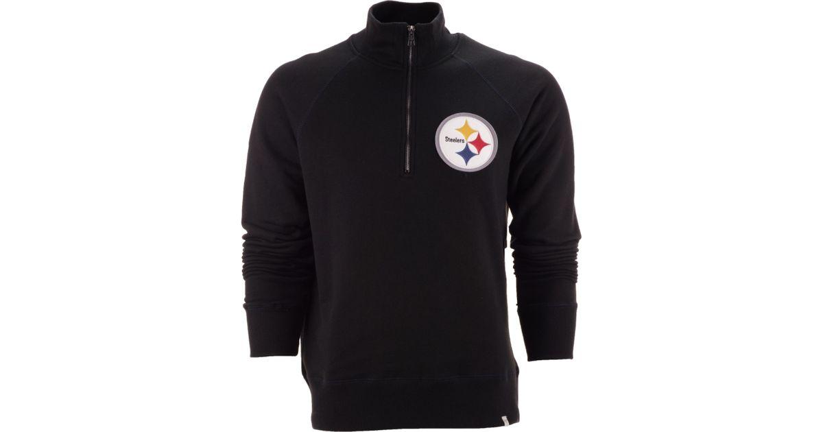 0cfe0bad4 Lyst - 47 Brand Men s Pittsburgh Steelers Half-zip Pullover in Black for Men