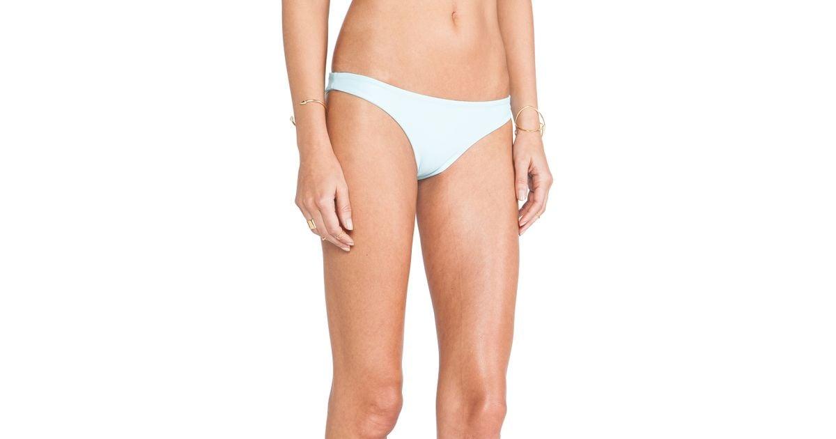 25f267a7e9ad4 Lyst - Mikoh Swimwear Swimwear Lahaina Extra Skimpy Bottom in Blue