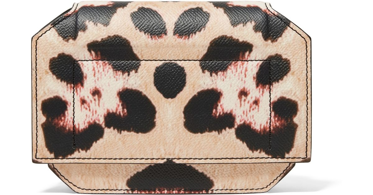 2a99f1a4d807 givenchy bow cut leopard-print textured leather shoulder bag with ...
